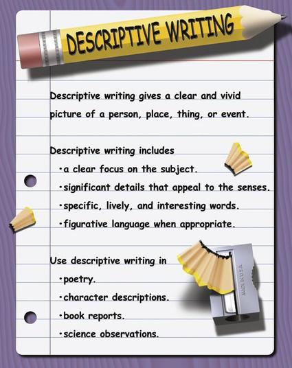 a descriptive writing Descriptive essays are probably the easiest one to write since they tend to be more personal and involve less research they are an opportunity to do some creative writing, even if the essay topic you choose looks pretty boring at first glance.